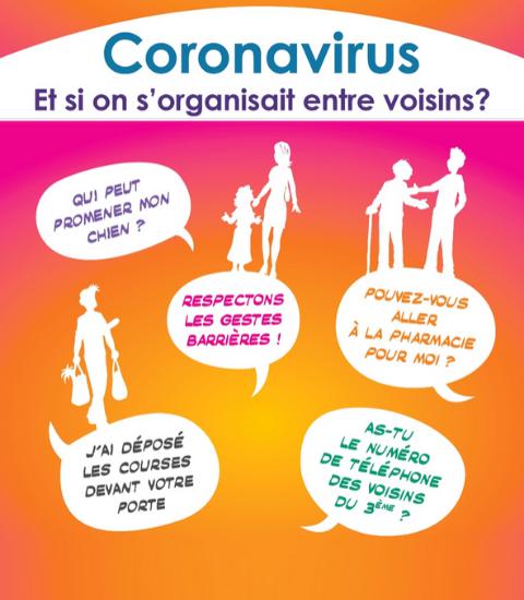 Coronavirus visuel Voisins Solidaires